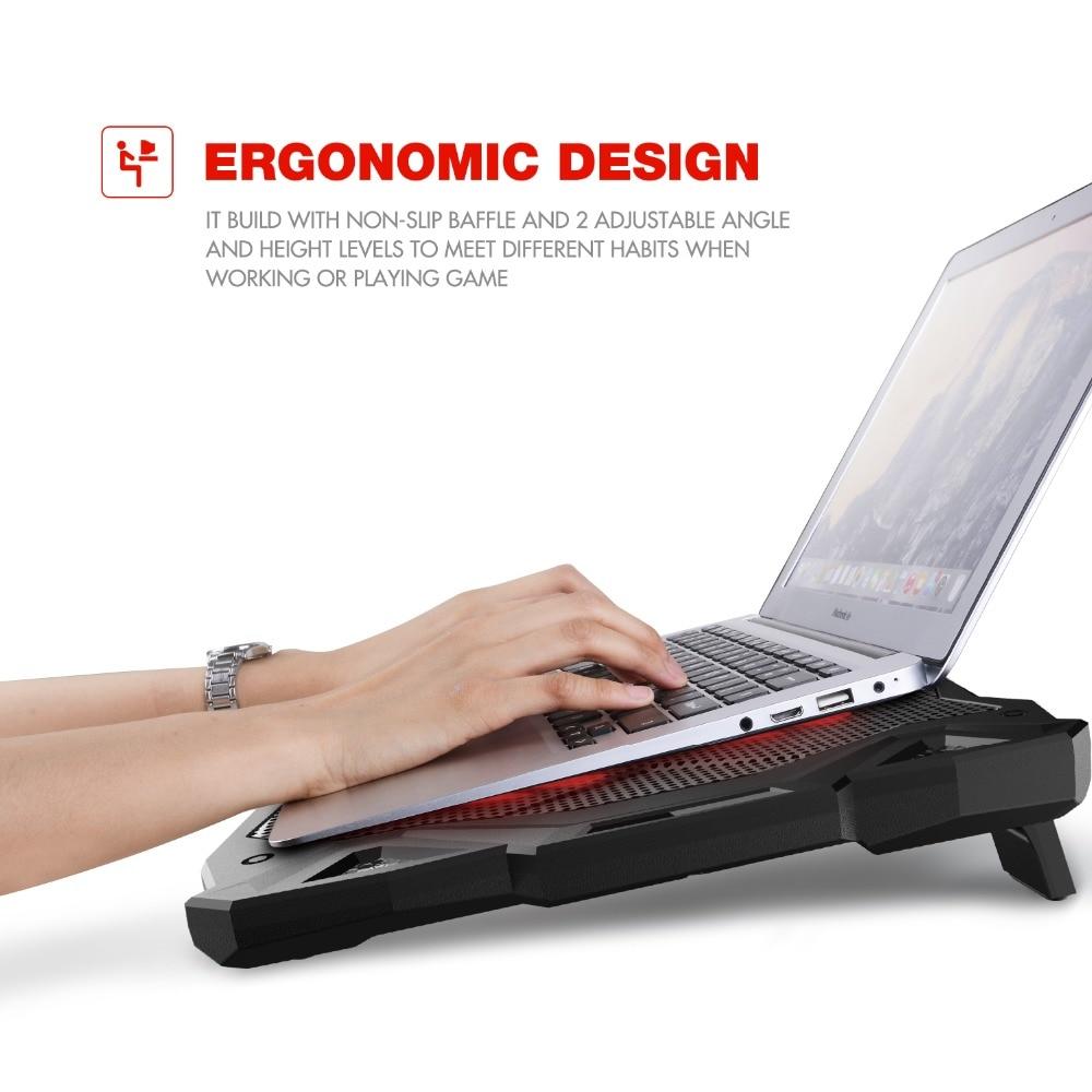 HAVIT Fan Cooling Stilla Laptop Cooling Pad LED USB Cooler - Laptop-tillbehör - Foto 5