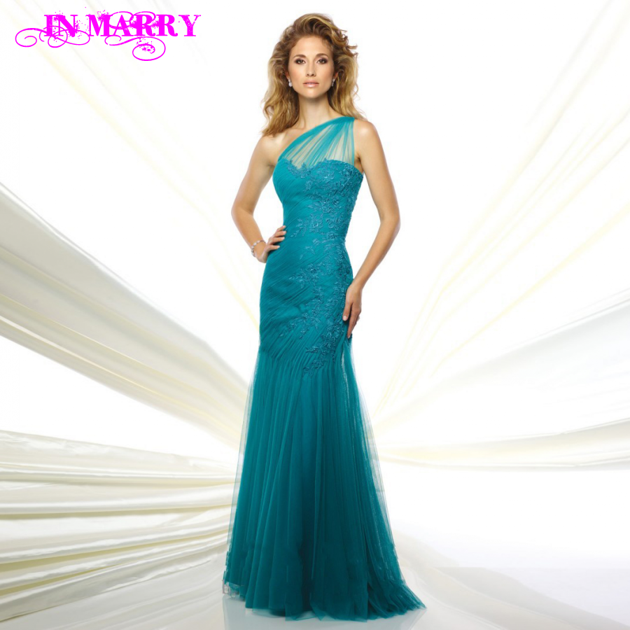Popular Teal One Shoulder Evening Dress-Buy Cheap Teal One ...