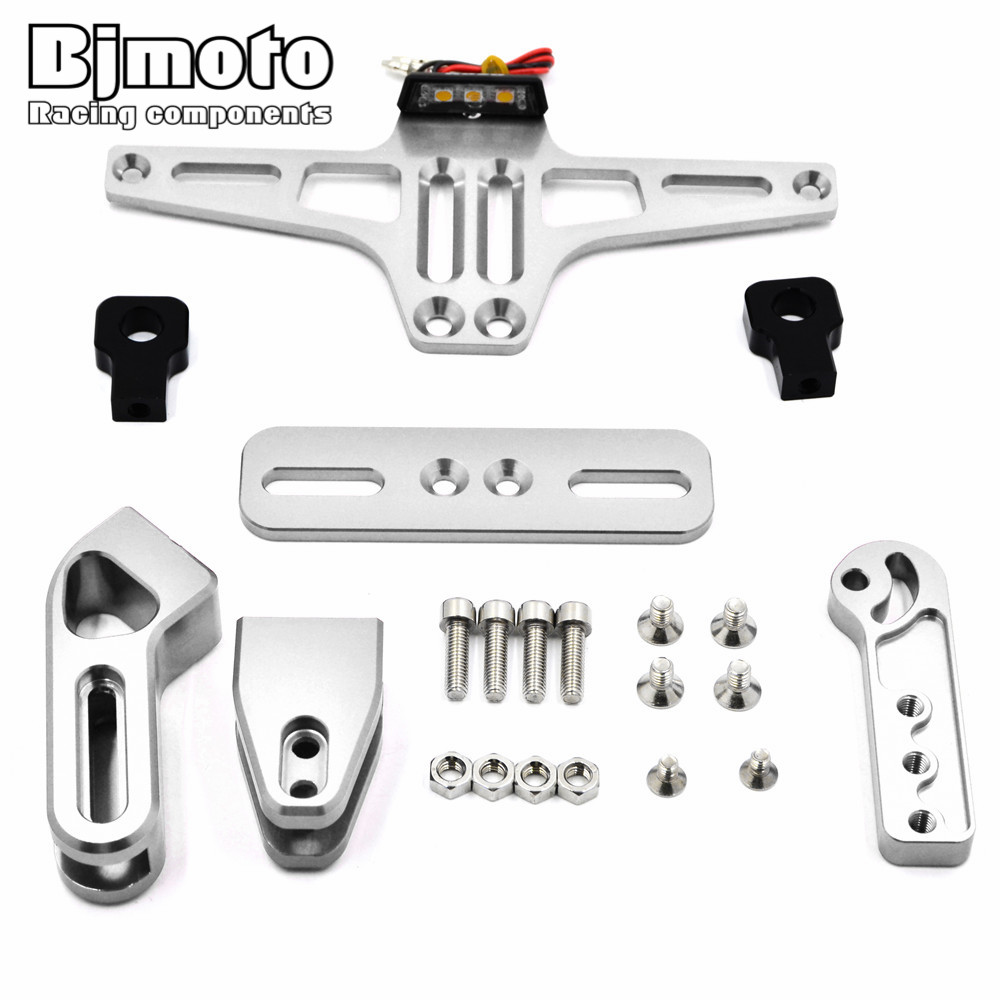 Motorcycle License Plate Bracket Licence Plate Holder Number Plate Hanger Tail Tidy Bracket with Light For Sport Bike-in Covers \u0026 Ornamental Mouldings from ...  sc 1 st  AliExpress.com & Motorcycle License Plate Bracket Licence Plate Holder Number Plate ...