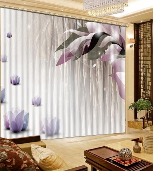 Роскошные Шторы s Затемненные окна Шторы Гостиная Roamtic фиолетовый цветок Grils комнаты Шторы Толстая тень полиэстер/хлопок шторы