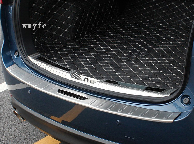 For <font><b>Mazda</b></font> CX-5 <font><b>CX5</b></font> CX 5 <font><b>2017</b></font> 2018 2019 stainless steel Exterior Rear Trunk Bumper Scuff Plate Door Sill Car <font><b>accessories</b></font> image
