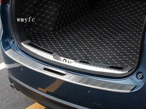Para Mazda CX-5 CX5 CX 5 2017 2018 2019 Acero inoxidable Exterior parachoques trasero placa de desgaste Umbral de puerta accesorios de coche
