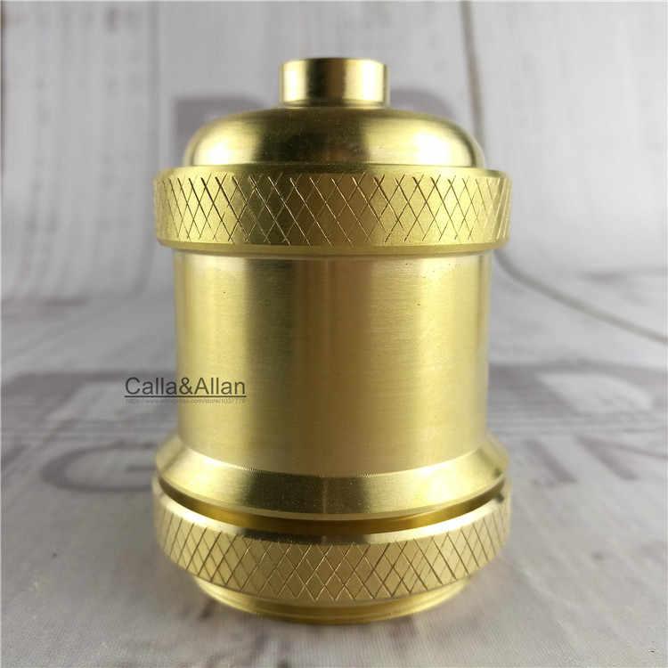 50units/pack Edison DIY lamp holder 100% brass material high quality vintage threaded socket E27 UL/CE lighting copper base