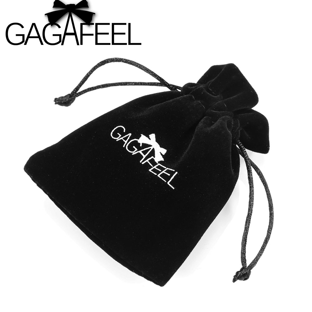 GAGAFEEL Black Velvet Gift Bag Pouches For Necklace Bracelet Earring Rings Jewelry Packaging