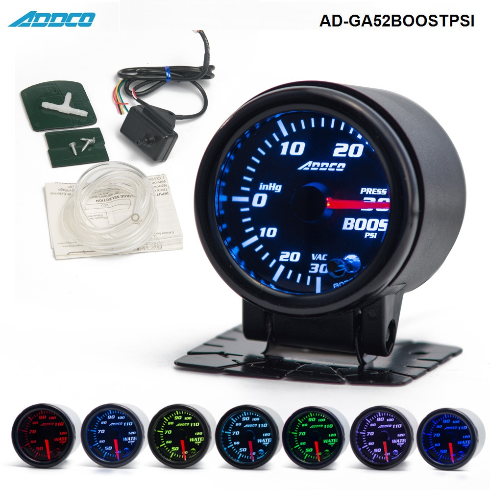 2/52mm 7 Color LED Car PSI Turbo Boost Gauge Meter Smoke Lens Pointer Universal Car Meter AD-GA52BOOSTPSI матрас diamond rush solid cocos 3 dr 140x200x3 см