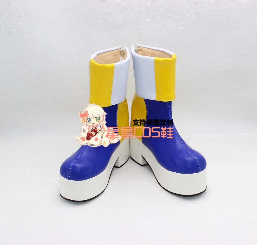 LOL Riven The Blade of Exile Purple Thick Heel Halloween Cosplay Shoes Boots X002
