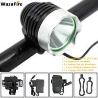 WasaFire Waterproof Rechargeable 6400mAh Battery 1800lm XML T6 LED Bicycle Bike Light Headlight Lamp Cycling Headlamp