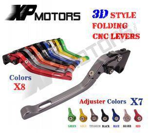 ФОТО CNC 3D Feel Folding Adjustable Brake Clutch Levers For Yamaha FJR1300 2004-2013