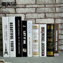Fashion Paper Fake Book Study Photography Camera Simulation Model Book Box Home Furnishing Props Bookcase Decor Decoration