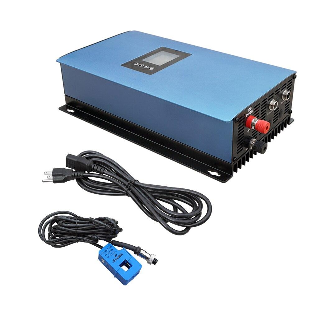 1000W Solar on Grid Tie Inverter Power Limiter, MPPT PV System DC 45-90V maylar 1000w mppt solar grid tie inverter with limiter sensor dc 45 90v ac 110v 120v for pv connected pure sine wave inverter