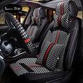 Pu de cuero Cubierta de Asiento de Coche. Tamaño Universal Racing Seat covers, Nuevo Y Único, cuatro estaciones cojín del asiento de coche