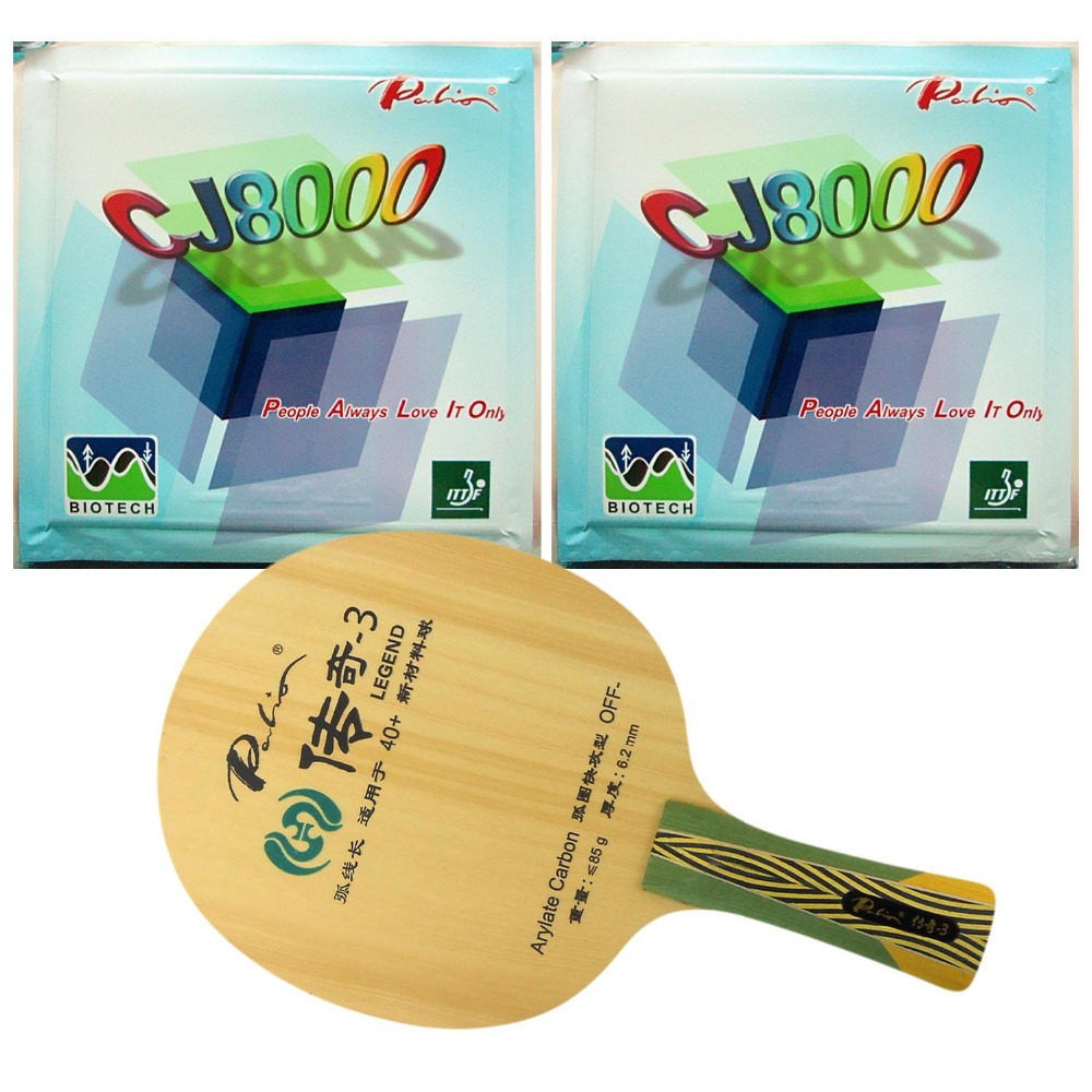 ФОТО Pro Table Tennis (PingPong) Combo Racket: Palio LEGEND-3 (LEGEND 3, LENGEND3) OFF- with 2x Palio CJ8000 (BIOTECH) 42-44