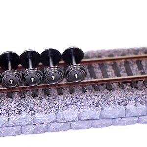 Image 3 - 24 peças 36 rodas de metal para modelo comboio 1:87 ho escala c8724 dc rodas modelagem ferroviária