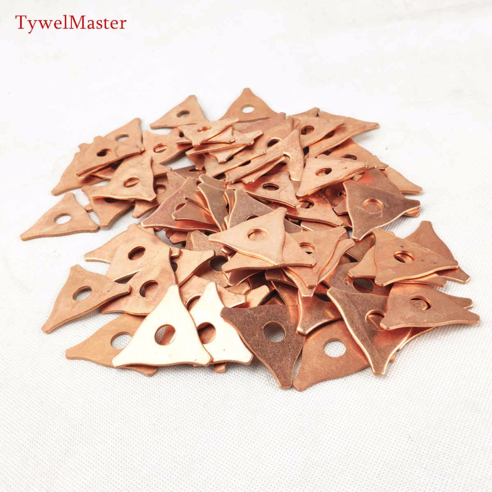 100pcs Dent Pulling Triangle Washer Spot Welder Star Washer Metal Shrink Repair Garage Spot Welding Machine Triangle Meson Pads