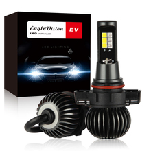 цена на EV14 Two-tone Fog Lights Headlight 880 881 5202 9005 9006 H8 H11 60W 6000LM 12V Auto CSP LED Lamp Ice Blue Amber Plug and Play