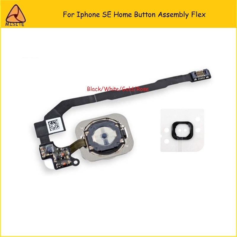 New OEM Home Button Flex For Iphone SE 5SE Home Button Assembly Flex Cable Mobile Phone Home Button Flex Gold White Black Rose