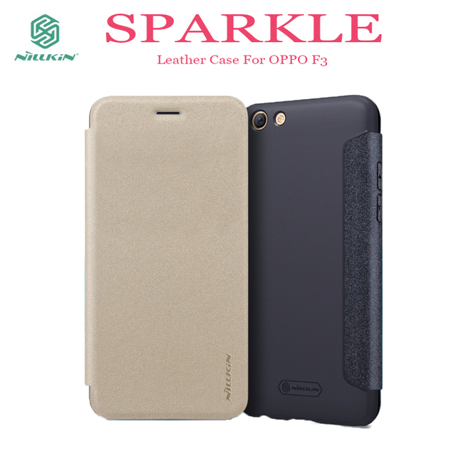 los angeles 0d815 ffc92 Aliexpress.com : Buy OPPO F3 phone Case NILLKIN Sparkle PU Flip Leather  case hard back cover for OPPO F3 houseing mobile phone bag for OPPO F3 case  ...