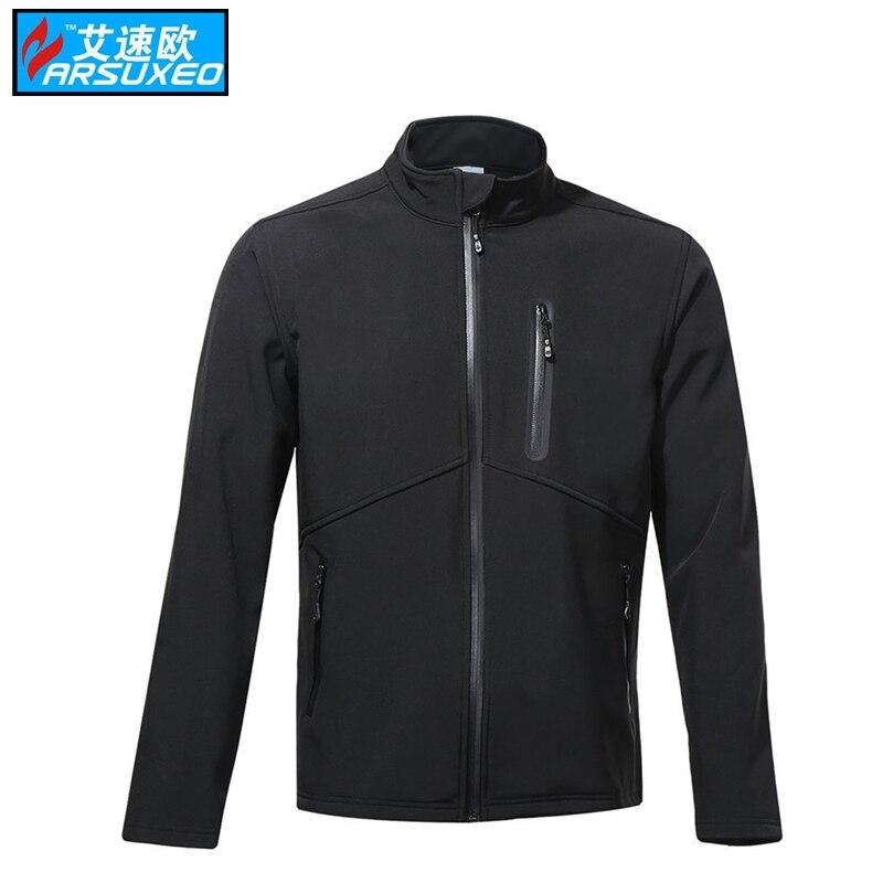 ARSUXEO Thermal Fleece Cycling Jacket Winter Warm Up Bike Clothing Windproof Waterproof Sports Coat MTB Bike motocross jersey