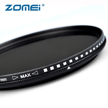 ZOMEI Neutral Density ND Filter Adjustable ND2 to ND400 Professional Photography Camera Lens Filter 49/52/55/58/62/67/72/77/82mm