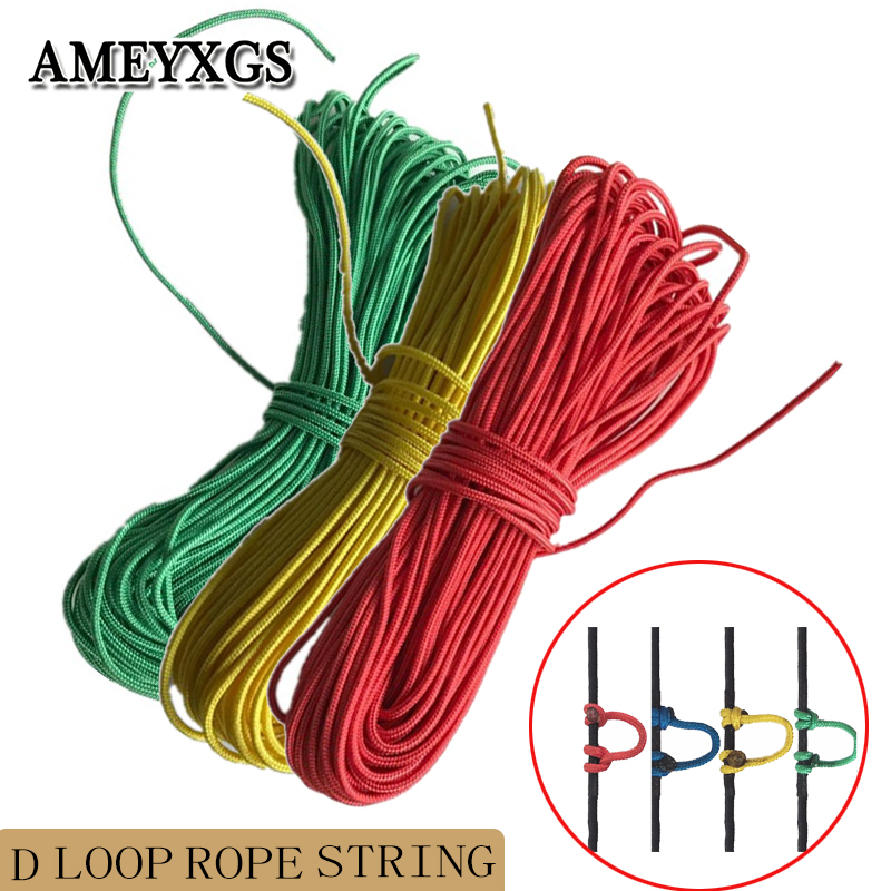 3/' Steel Gray D Loop Material Archery Bowstring Rope Drop Away Rest Cord