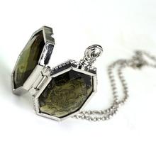 лучшая цена Fashion Slytherin College Treasures Horcrux Locket Necklace Slytherin Box Horcrux Kit Necklaces & Pendants Movie Jewelry