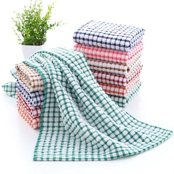 Plaid Cotton Kitchen Towel Kitchen Towels & Paper Napkins Personal Hygiene