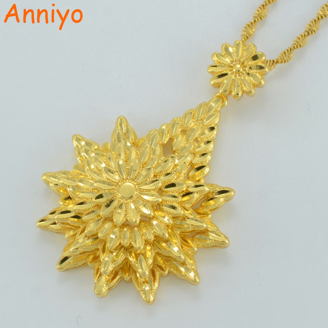 Anniyo ethiopian gold pendant necklaces women men gold color and anniyo ethiopian gold pendant necklaces women men gold color and copper african jewelry gift 2017 aloadofball Choice Image