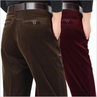 Big Size 30 40 Autumn Winter Men High Quality Corduroy Pants Men Slim Casual Long Pants