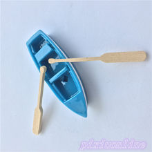 1set J130Y Resin Boat and Wooden Quant Micro Landscape Simulation Moss Decoration DIY Tool Part High Quality On Sale(China)