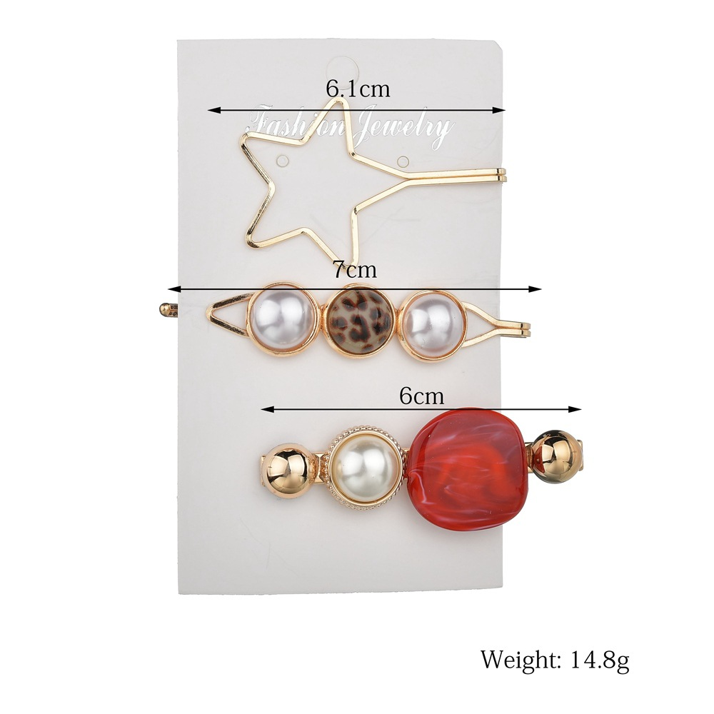 2pcs/set Women Pearl Shining Hair Clip Gold Hairpin Candy Headwear for Women Slide Grips Barrette hair pin Hair Accessories(China)