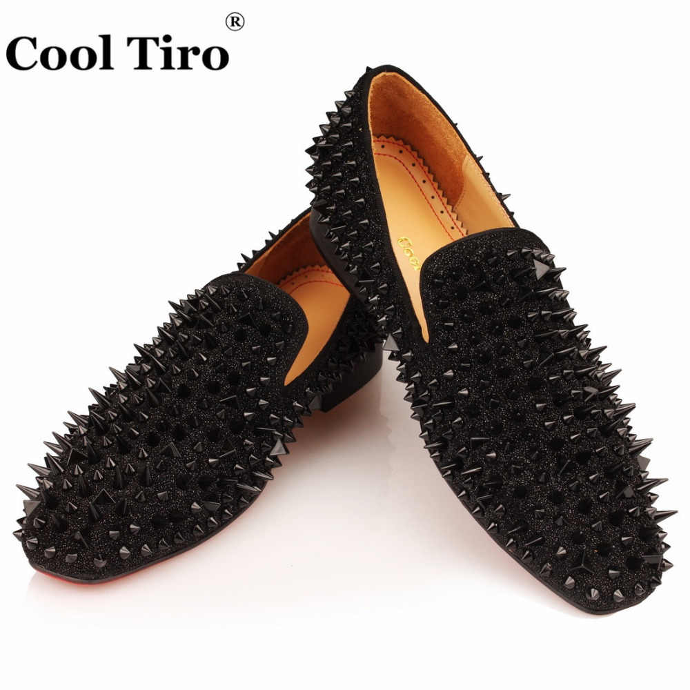 COOL TIRO Black Spikes Men Loafers