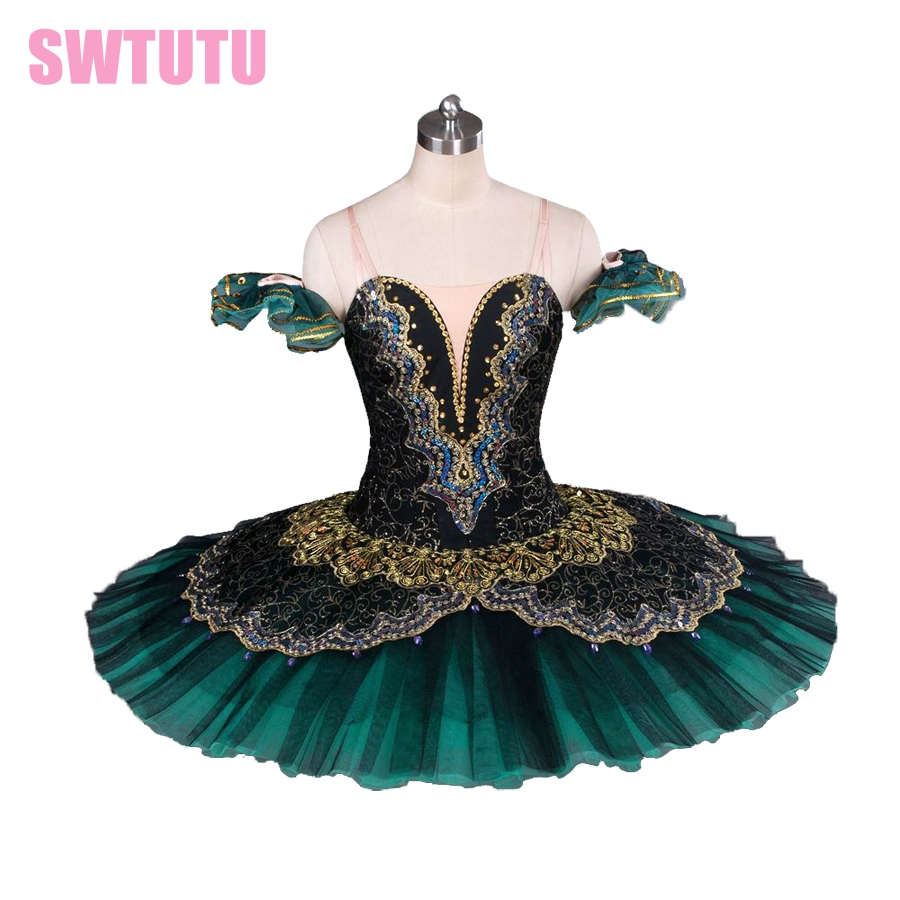 Adult black green professional tutu,red ballet tutus for performance black swan costume girls ballet tutuBT8941