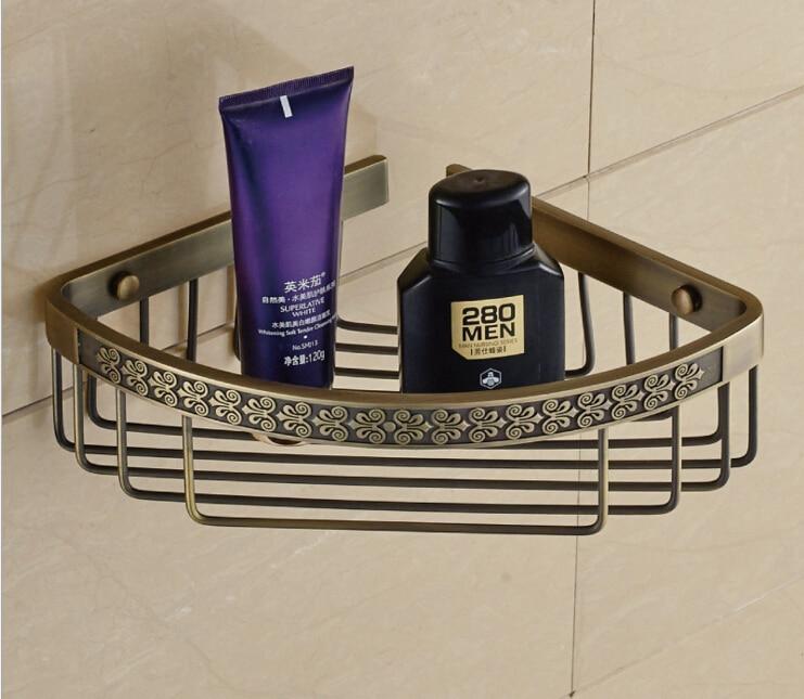 Top Quality Wall Mounted Antique Copper Bathroom Soap Dish Bath Shower Shelf Bath Shampoo Holder