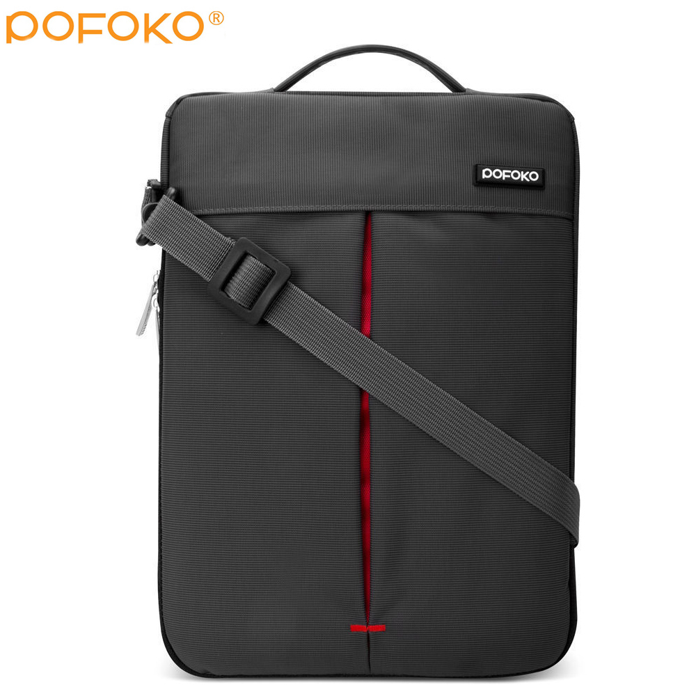 POFOKO brand Laptop Shoulder Bag case Pouch For surface Pro 3 4th surface book carry bag for MacBook Pro DELL XPS 11 13 15 inch in Laptop Bags Cases from Computer Office