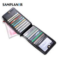 Leather Women Card Holder Ultra Thin Candy Color Female Credit Card Holders Women Organizer Purse Long