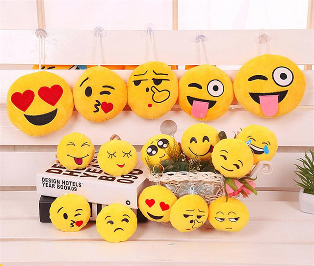 15cm 6 inch cute emoji pillow smiley emoticon cushion round soft stuffed plush hanging toy doll
