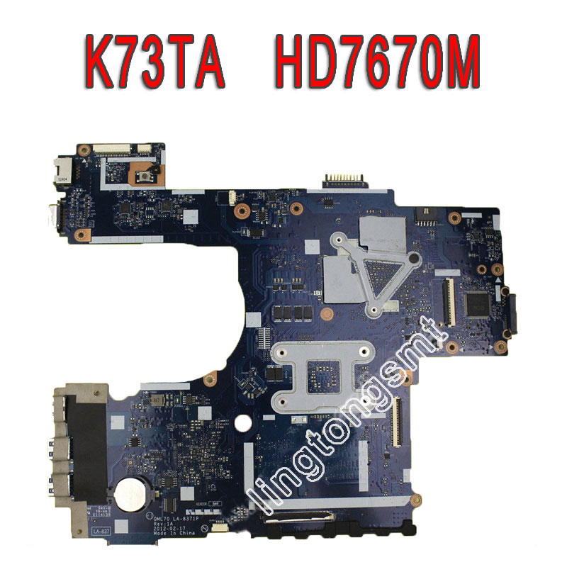 K73TA For ASUS K73T X73T K73TA K73TK R73T Latop motherboard REV 1A QBL70 LA-7553P hd7670m 1gb Mainboard 100% tested ok k73ta for asus k73t x73t k73ta k73tk r73t latop motherboard rev 1a qbl70 la 7553p hd7670m 1gb mainboard 100% tested ok