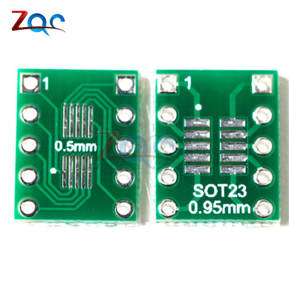 20pcs SOT23 SOP10 MSOP10 Umax SOP23 To DIP10 Pinboard SMD To DIP Adapter Plate 0.5mm/0.95mm To 2.54mm DIP Pin PCB Board Convert