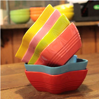 Melamine Candy Color Bowl Of Five Pointed Star Shape But Also Creative Cooking Utensils 6 Colors