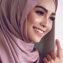 Купить с кэшбэком 2018 Summer Evening Scarf Women Chiffon Scarf Muslim Hijab Wrap 200*78CM Longth Wedding Party Custom-made Color Available