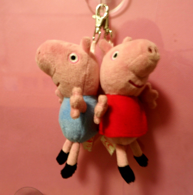 """2013 Hot Sale Brand New  Peppa Pig &George Pig Keychain Plush Toy 5""""  for Christmas Gift Free Shipping"""