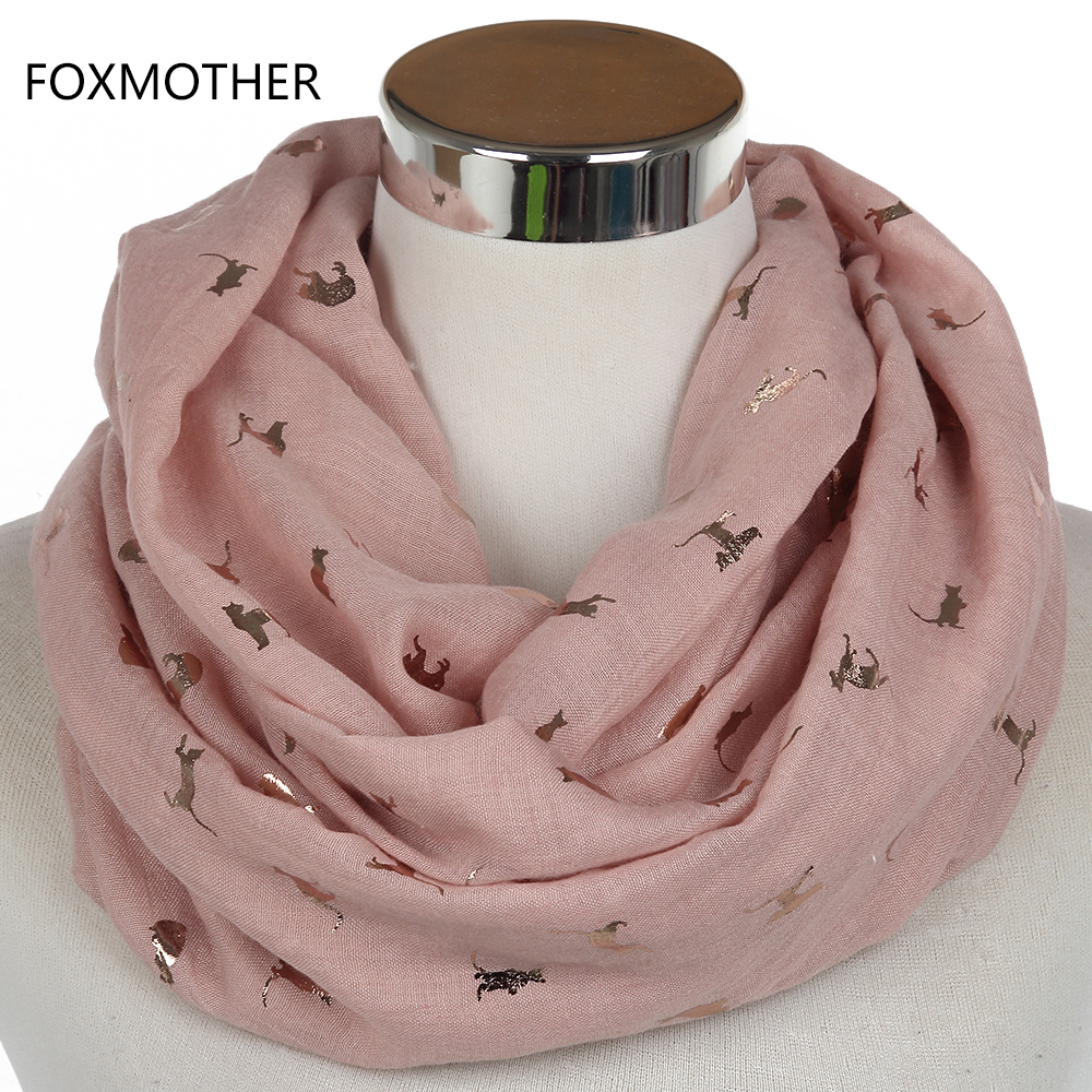rose gifts mother item bronzing s foxmother fashionable snood scarves shiny from black in new foil ladies infinity pink gold women scarf leopard