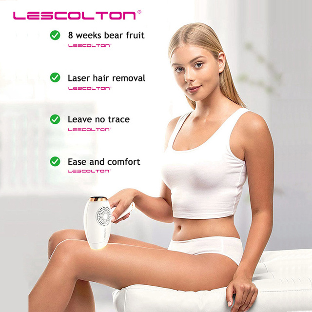 Lescolton 2in1 350000 pulsed IPL Laser Hair Removal Device Permanent Hair Removal IPL laser Epilator Armpit Hair Removal machine