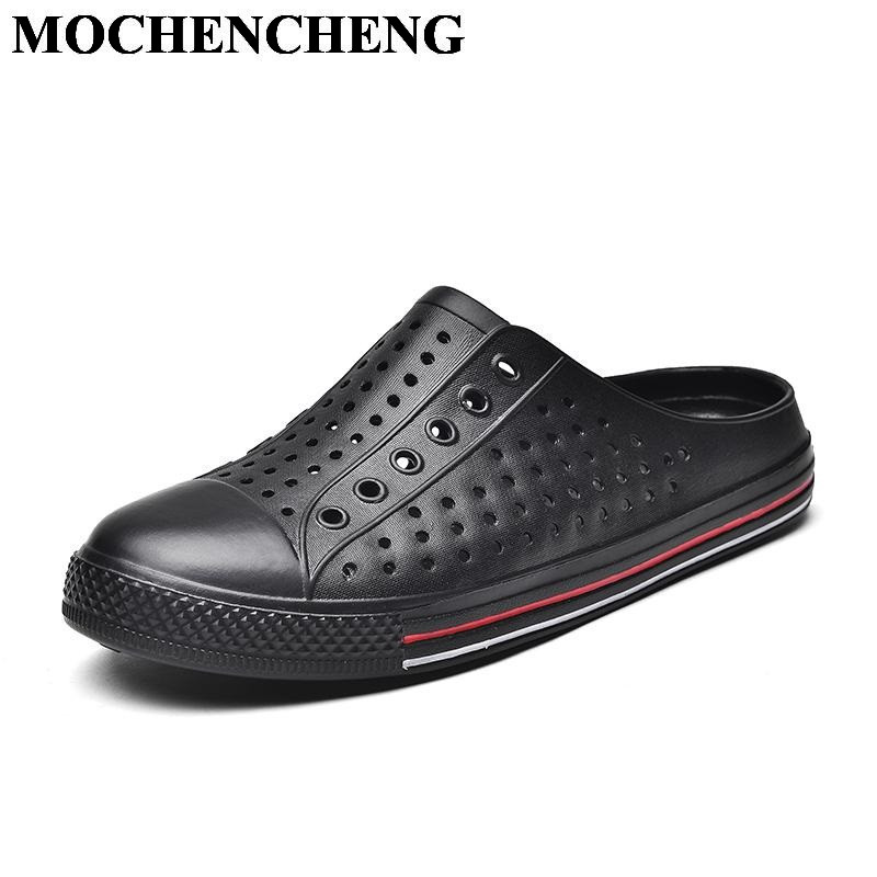 New Summer Slippers Men Unisex Breathable Hollow Slip-on Flat Casual Shoes Fashion Solid Light Soft Anti-skid Couple Shoes suihyung design new women and men summer flat shoes hit color breathable hollow beach slippers flips non slip unisex sandals