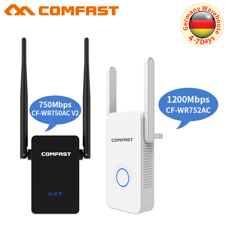 Wireless Wifi Repeater/Router 750- 1200 Mbps 2.4G&5.8G Dual Band Wifi Signal Amplifier AP Signal Booster Network Range Extender