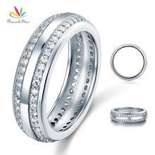 Павлин звезды Женские однотонные стерлингового серебра 925 Обручальное кольцо ювелирные изделия CFR8040