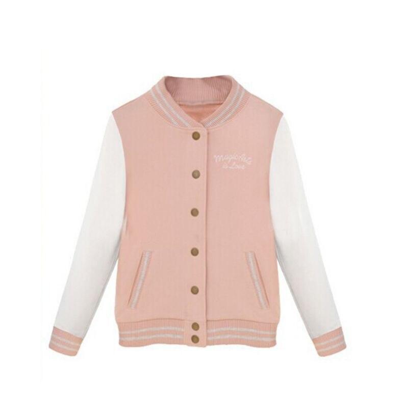 women autumn winter newest slim baseball uniform outerwear long sleeve jacket bomber jacket coat tops