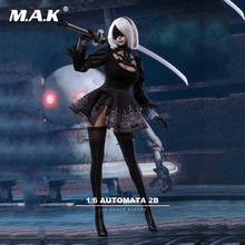 1/6 Game figure 2B nier automata head sculpt clothing set w weapon 2 girl wish mask Toy Collectible no body