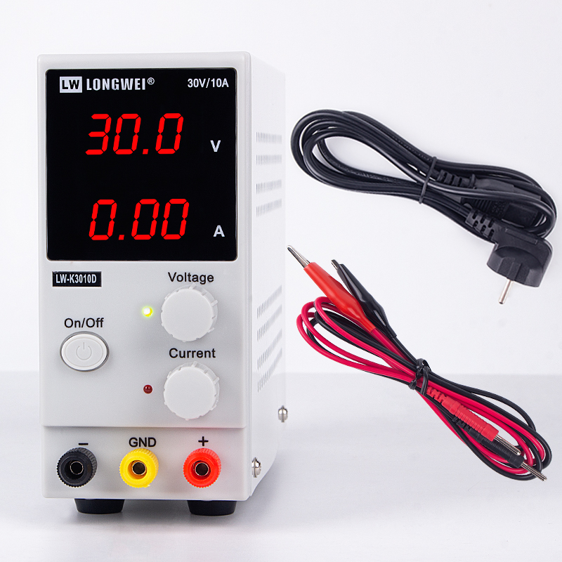 K3010d mini ajustável dc fonte de alimentação 30 v 10a 110/220 v led digital switching voltage regulator estabilizadores reparo do portátil retrabalho