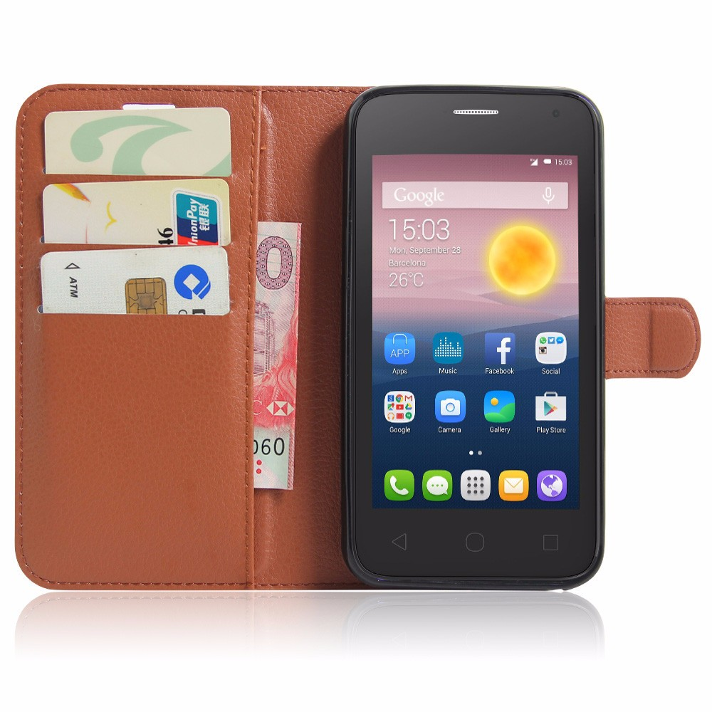Luxury PU Leather Cover Case For Alcatel One Touch Pixi 4 5.0 OT 5010 5010D Case Flip Protective Phone Back Cover Bag Skin (10)